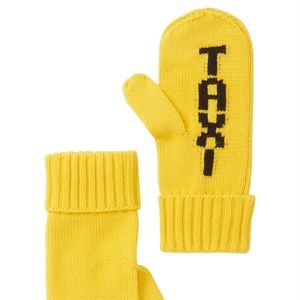 KATE SPADE New York Taxi Knit Mittens Wool Blend